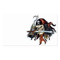 skull,, skulls,, pirate,, pirates,, gothic,, goth,, sword,, swords,, hook,, comic,, art,, al, rio,, characters, Business Card with custom graphic design