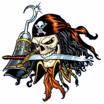 skull,, skulls,, pirate,, pirates,, gothic,, goth,, sword,, swords,, hook,, comic,, art,, al, rio,, characters, Photo Sculpture with custom graphic design