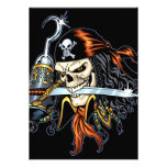 Skull Pirate with Sword and Hook by Al Rio Custom Announcement