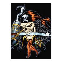 skull,, skulls,, pirate,, pirates,, gothic,, goth,, sword,, swords,, hook,, comic,, art,, al, rio,, characters, Convite com design gráfico personalizado