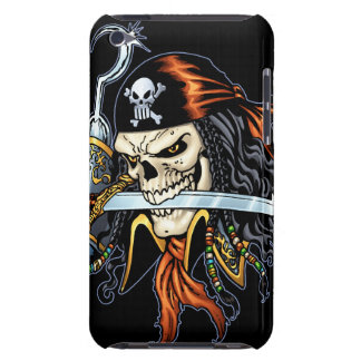 Skull Pirate with Sword and Hook by Al Rio iPod Touch Case