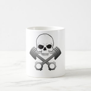 Travel MugsZazzle Piston Piston Coffeeamp; Skull Skull N8yvwOnPm0