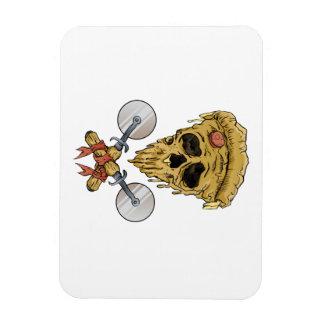 skull pizza slice. magnet
