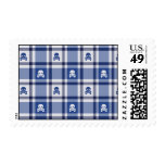 Skull Plaid Pattern Stamps