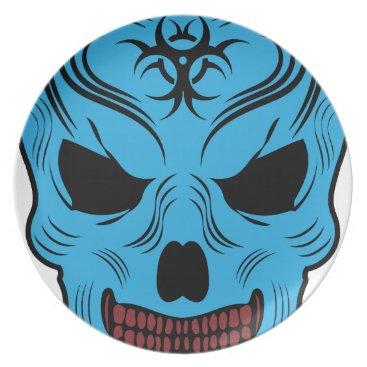 Halloween Themed Skull Plate