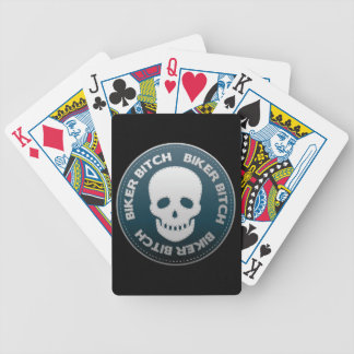 Skull Playing Cards For Bikers Ol' Ladies Bicycle Playing Cards