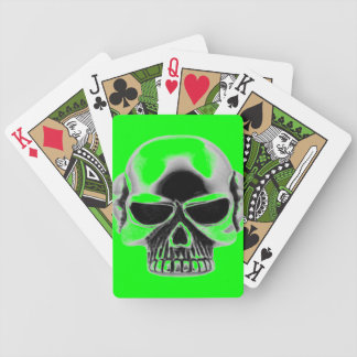 skull playing cards - who gives you green cards?