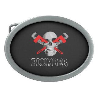 Skull Plumber Belt Buckle