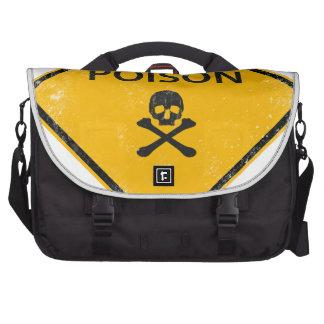 skull poison laptop messenger bag