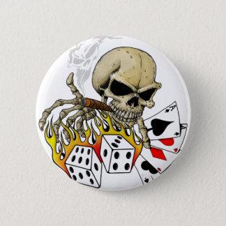 Skull Poker chart Pinback Button
