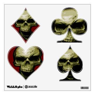 Skull Poker Wall Sticker
