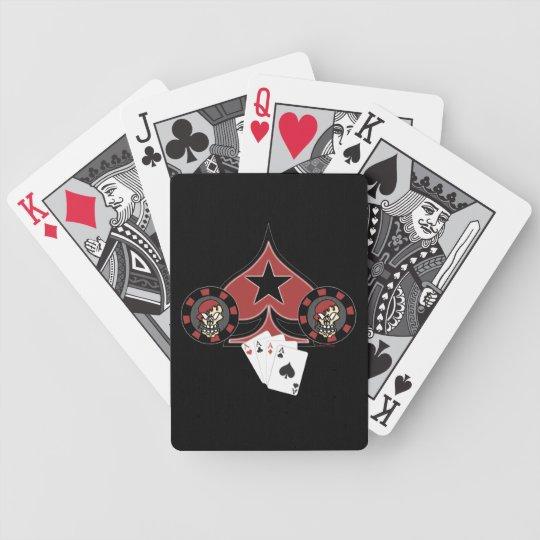Skull Pokerchip Cards