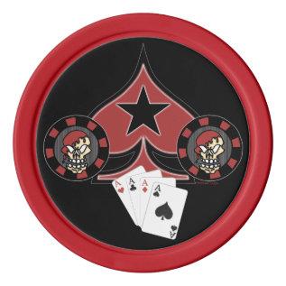 Skull Pokerchips Poker Chips Set at Zazzle