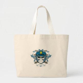 Skull Police Officer Canvas Bag