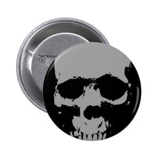 Skull Pop Art Pinback Buttons