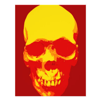 Skull Pop Art Flyer