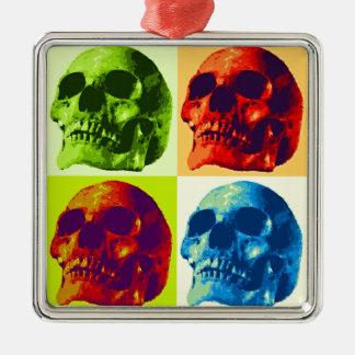 Skull Pop Art Metal Ornament