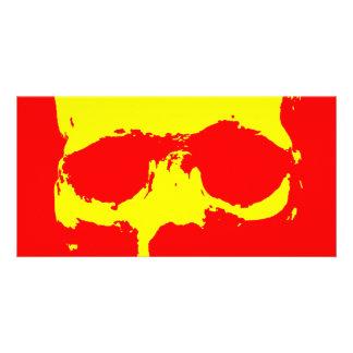 Skull Pop Art - Red & Yellow Card