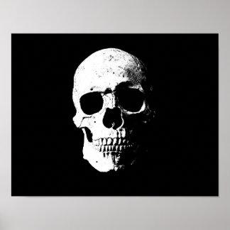 skull pop art retro look poster