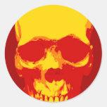 Skull Pop Art Round Sticker