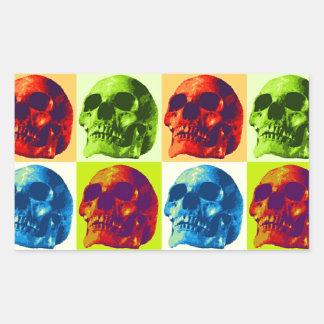 Skull Pop Art Rectangular Sticker