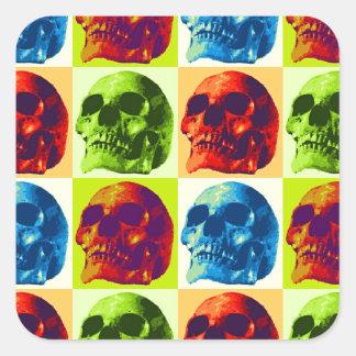 Skull Pop Art Square Sticker