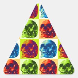 Skull Pop Art Triangle Sticker