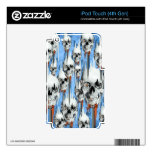 Skull popsicle pattern decal for iPod touch 4G
