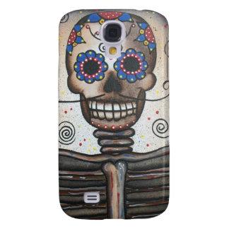 Skull Portrait By Lori Everett Samsung Galaxy S4 Case