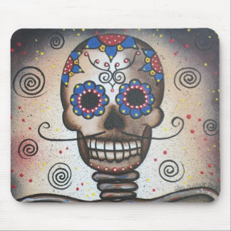 Skull Portrait By Lori Everett Mouse Pads