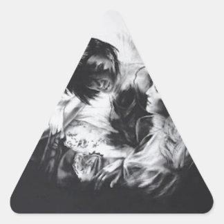 skull-Portraits-tom Triangle Sticker
