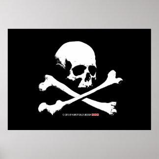 skull póster