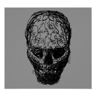 Skull. Print