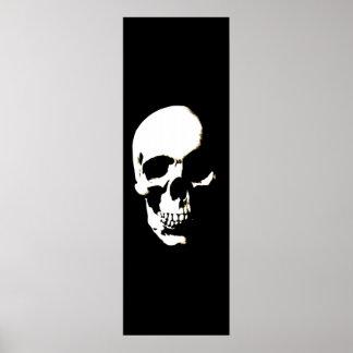 Skull Poster - Black & White Fantasy Artwork