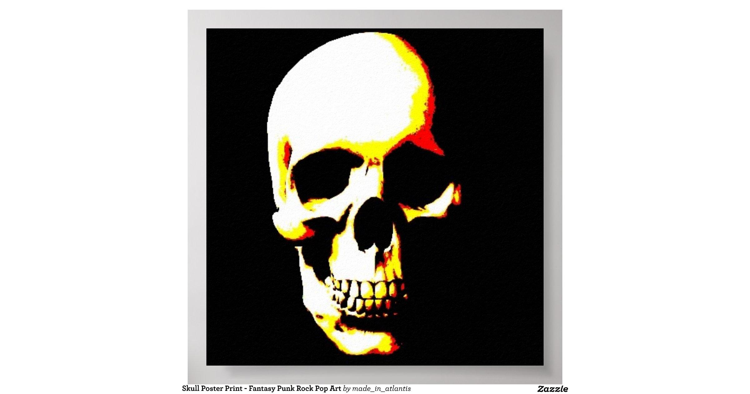 skull_poster_print_fantasy_punk_rock_pop_art ...