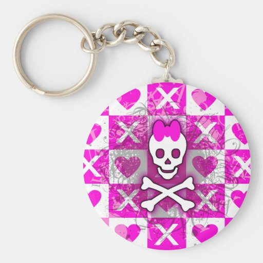 Skull Princess Keychain