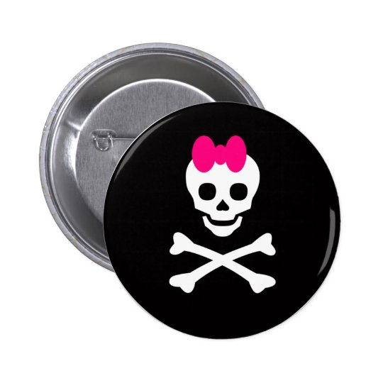 Skull Princess Pinback Button