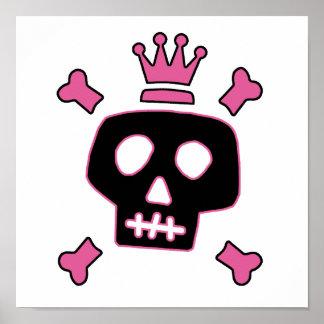 Skull Princess Poster
