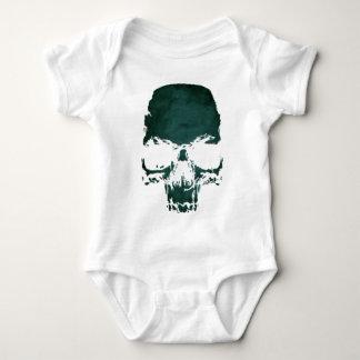 Skull print baby bodysuit