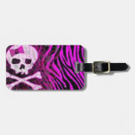 skull print tags for bags