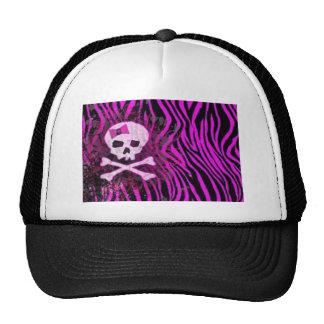 skull print trucker hat