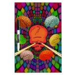 Skull Psychedelic Dry-Erase Board