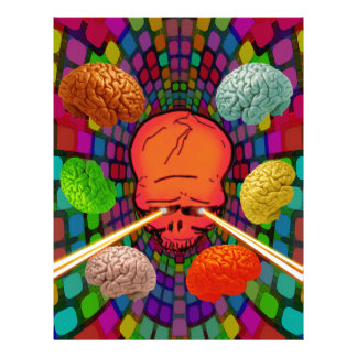 Skull Psychedelic Letterhead