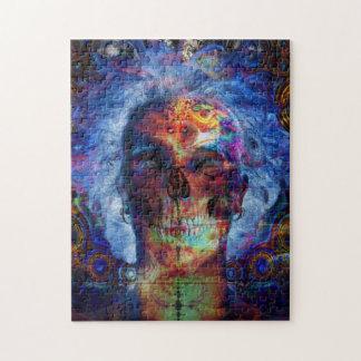 Skull psychodelicart jigsaw puzzle