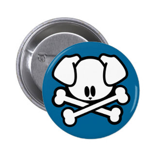 Skull Puppy - Button