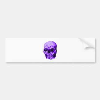 Skull Purple The MUSEUM Zazzle Gifts Bumper Sticker
