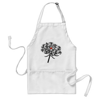 Skull Queen Anne's Lace Adult Apron