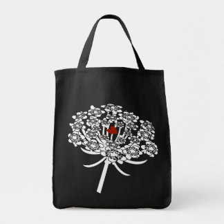 Skull Queen Anne's Lace Tote Bag