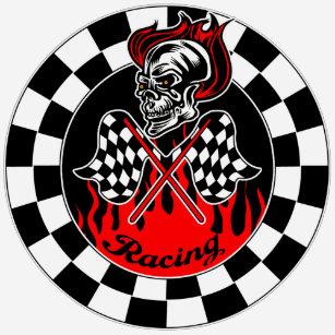 racing skull t shirts shirt designs zazzle