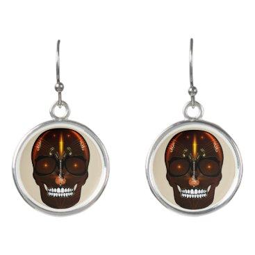 Halloween Themed Skull Rarrings - Music Skull Design Earrings